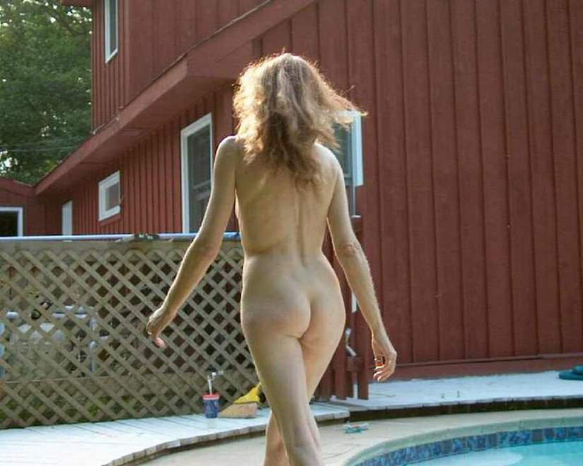 Poolside Porn Photo