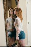 amateur photo Hattie Watson in the mirror.