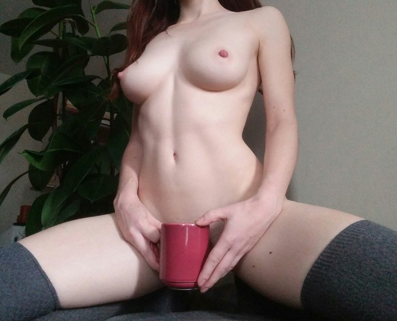 Good morning! Here's my pale body ☕ Porn Photo