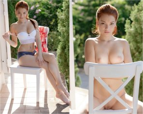 amateur photo Redhead on/off