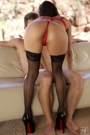 amateur photo Veronica Rodriguez in a red thong
