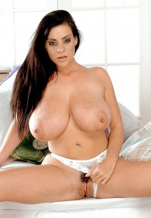 amateur photo Linsey Dawn Mckenzie pulling undies to the side