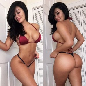 amateur photo Front and back view