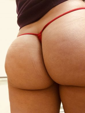 amateur photo [F] Thong of the day!! Red micro thong, enjoy!!! Sorry been busy day at wotk