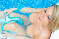 Nikki Sims in the pool