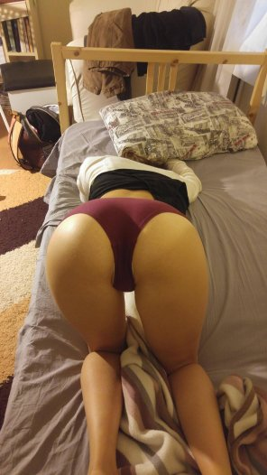 amateur photo Ready to doggy.