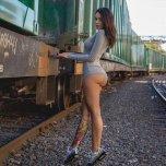 amateur photo Catch a train