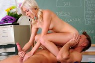Beautiful blond teacher