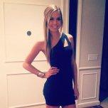 amateur photo Blonde in a black dress