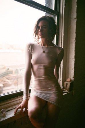 amateur photo I love this dress