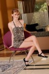 amateur photo Faye Reagan in leopard print