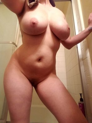 amateur photo Showing off my big tits, hope you enjoy! SC - notysarah18