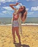 amateur photo Happy girl in bikini