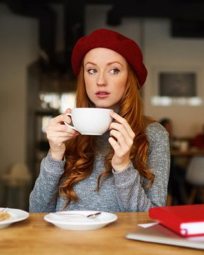 amateur photo Alina Kovalenko at breakfast