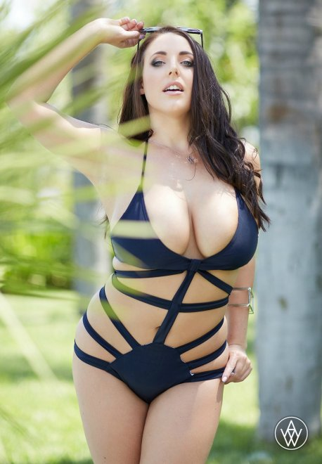 Angela White in a Sexy Bathing Suit Porn Photo