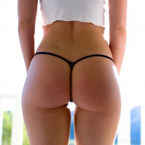 amateur photo Back dimples