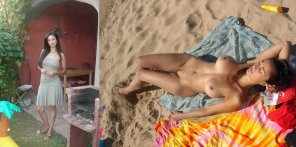 amateur photo Yard vs. Beach