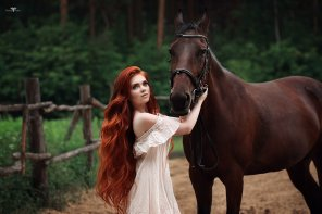 amateur photo Horse Girl