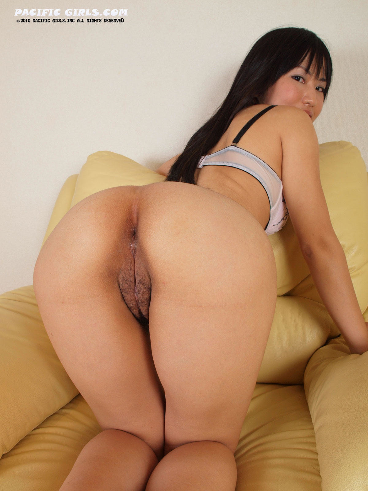Round asian ass and pussy