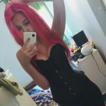 amateur photo Pink haired hottie