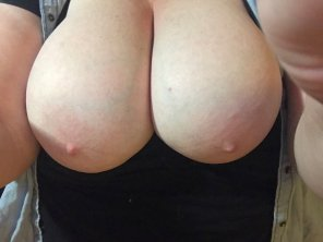 amateur photo I think my wife has the prettiest titties!