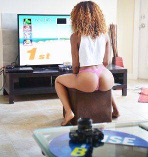 amateur photo Gamer girl