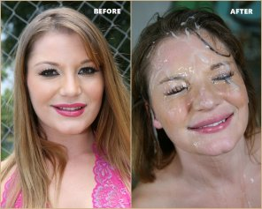 amateur photo Aurora Snow - Before & After - Bro Banged!