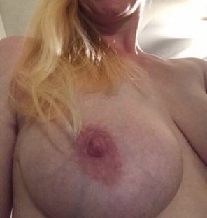 amateur photo My nipples are super sensitive. I can almost orgasm just by having them sucked and played with. It makes not wearing a bra an adventure