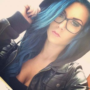 amateur photo That blue hair..
