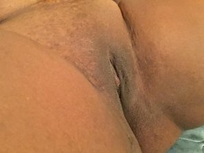 amateur photo My freshly shaven virgin pussy;)