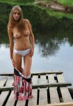 amateur photo Getting naked by the lake