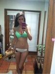 amateur photo Showing off the new bikini