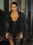 amateur photo Kim Kardashian at Givenchy fashion show in Paris
