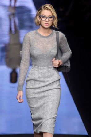 amateur photo Gigi Hadid on the runway