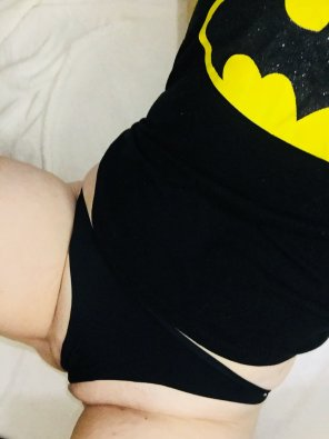 amateur photo I love wearing my Dark Knight ;)