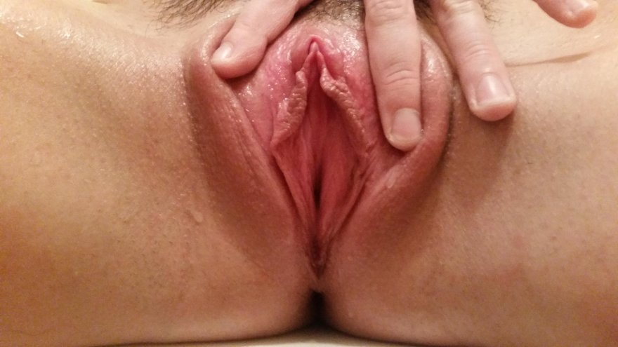 Spreading my pink flower for you... what do you think? [OC] Porn Photo