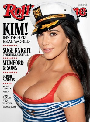 amateur photo Kim K bursting out on new cover for Rolling Stone