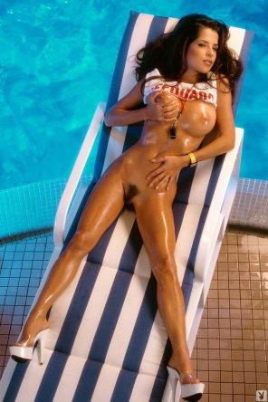 amateur photo Kelly Monaco, Miss April 1997