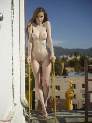 amateur photo Posing outdoors