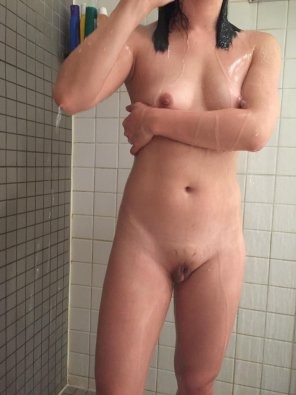 amateur photo PicMy clit and nipples tend to get hard in the shower