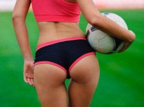 amateur photo Watching female Soccer might be interesting in the end