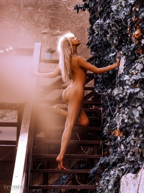 amateur photo Sexy on the stairs