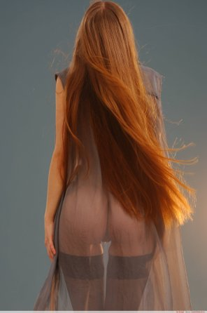 amateur photo Beautiful red hair above...