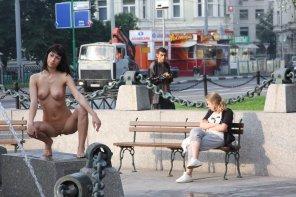 amateur photo Posing in public