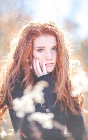 amateur photo Really cute red hair girl with freckles