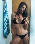 amateur photo Brunette bikini selfie