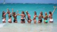 Bikini line-up.
