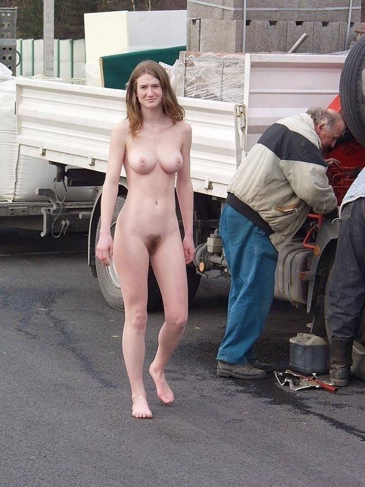 Man walking around naked black