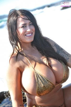 amateur photo I'm honestly shocked Leanne Crow can find any bikinis that fit