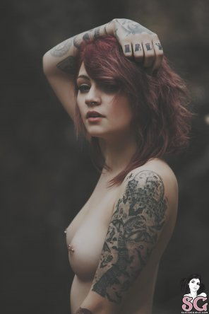 amateur photo Stunning Tattooed Redhead Kirbee